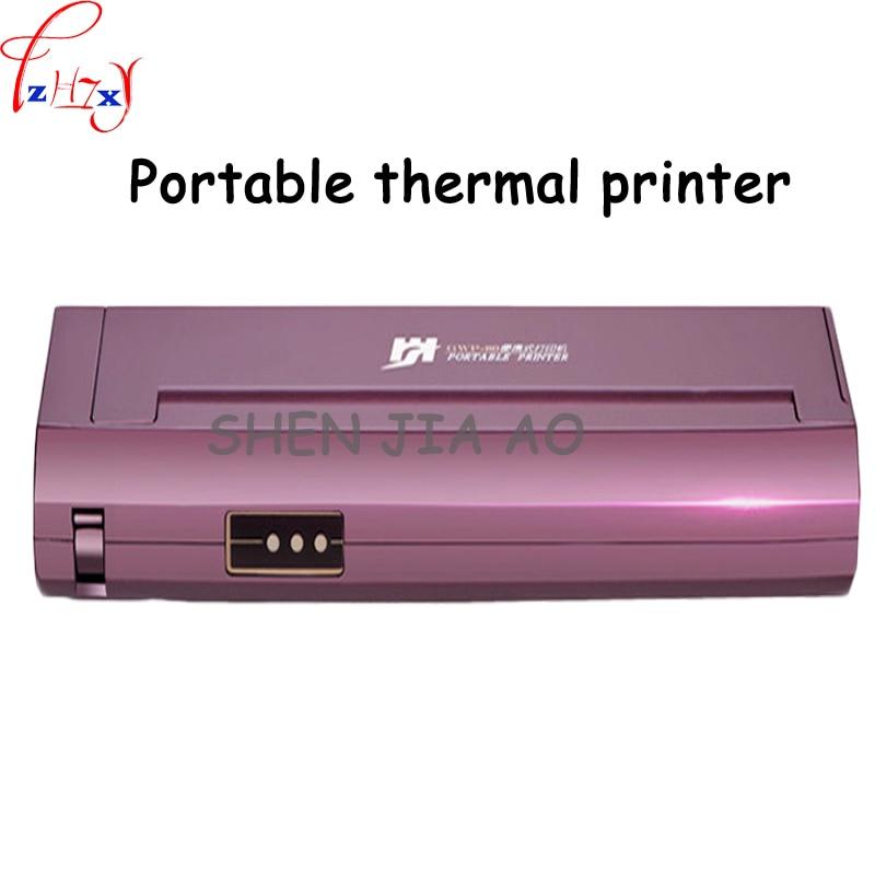 Portable A4 Papier Thermique Imprimante de Bureau À Domicile De Voiture Mobile Portable Noir et Blanc Thermique Imprimante 220 V 1 PC