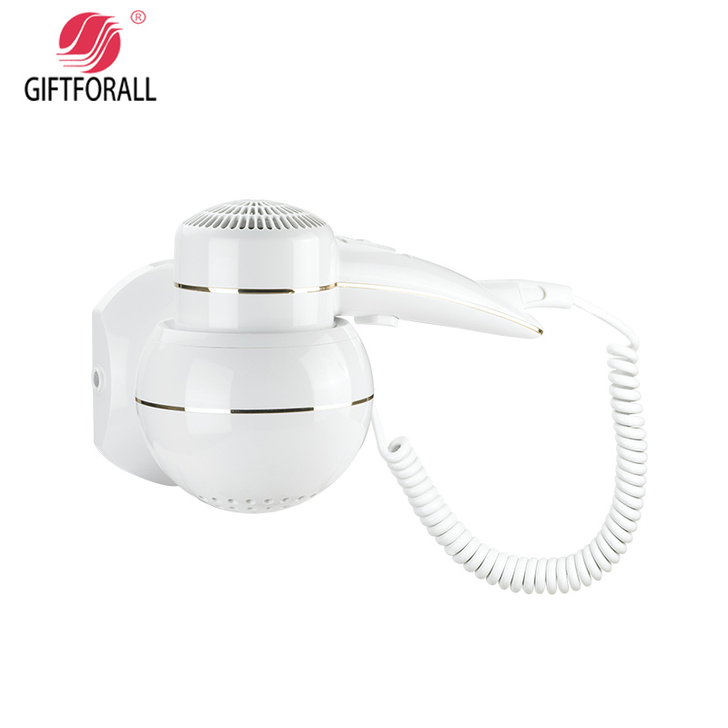 GIFTFORALL Hairdryer Professional Styling Powerful Wall Mounted Portable hot and cold windHotel Bathroom Home Hair Dryer D-136 braun 3in1 multifunctional hair styling tool hairdryer hair curler hair dryer blow dryer comb brush hairbrush professional as720