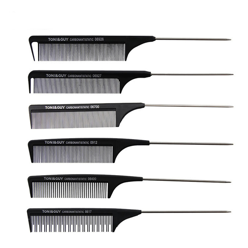 0712 High quality nylon fiber tail comb Professional barber comb plate made of hairdressing scissors fine-toothed comb