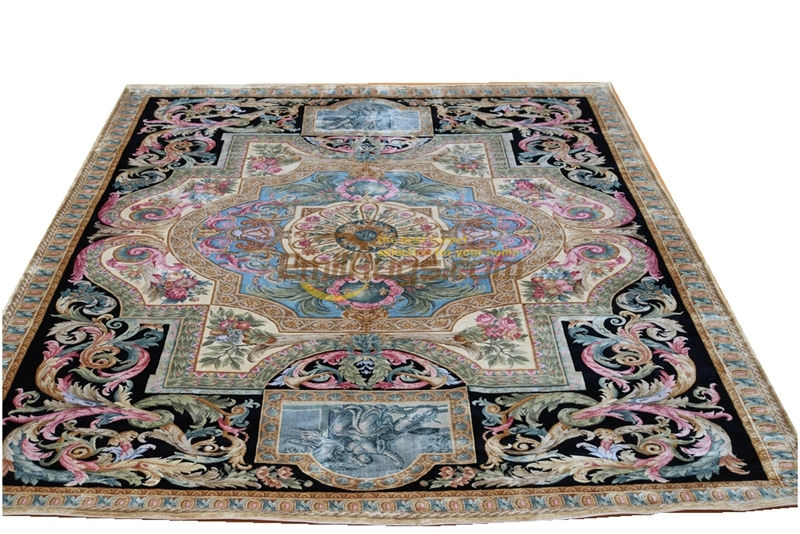 Artificial Silk Rug Savonnerie Carpet Top Fashion Tapete Details Abou  Hand Knotted Thick Plush(