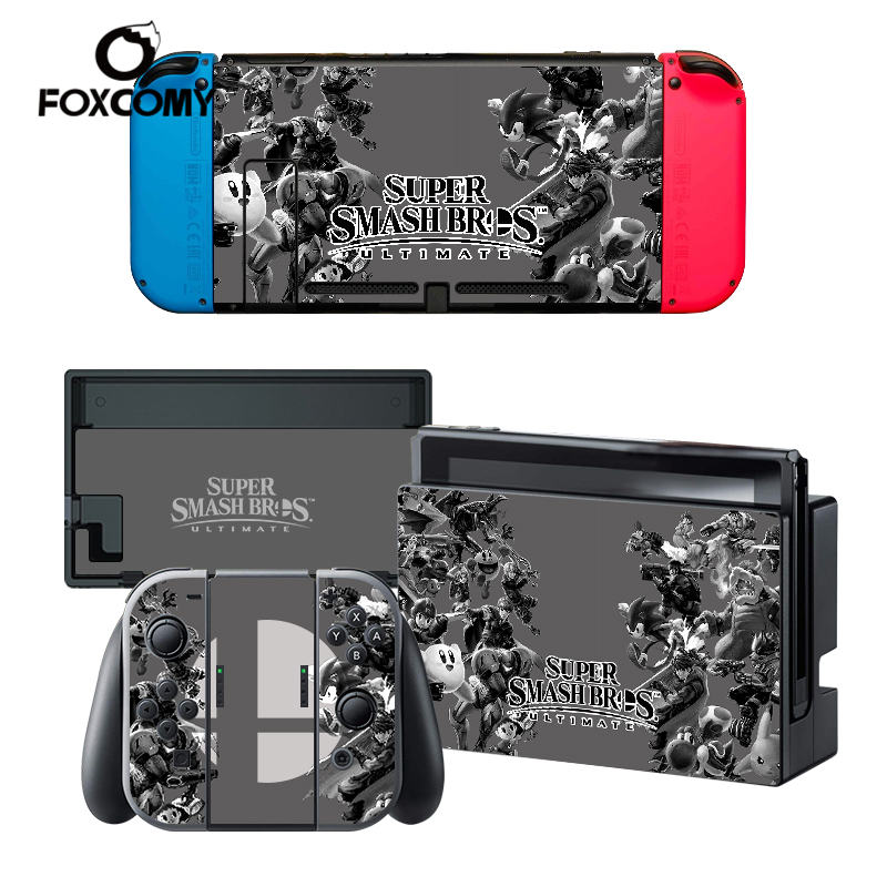 Custom Man Vinyl Console Cover For Super Smash Bro s 5 For Nintend Switch Skin Stickers Controller Protective For NS Switch