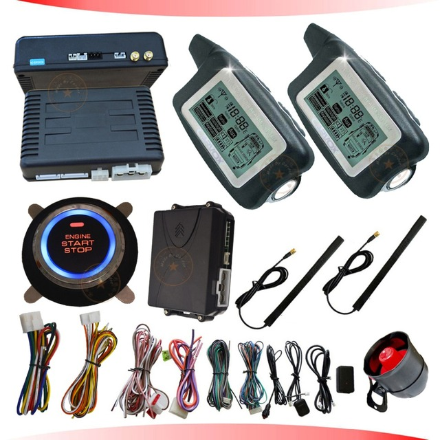 auto engine start stop button smart car alarm system handfree lock or unlock car door hopping