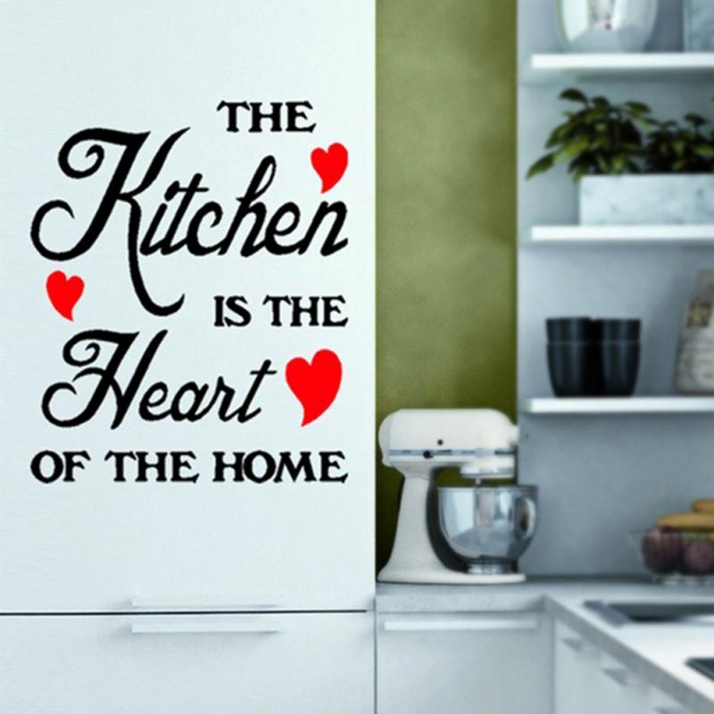 The Kitchen Is The Heart Of The Home Wall Stickers Decals Art Quotes Kitchen Home Decor 60*20cm
