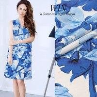 Harue Blue And White Wide Format Digital Inkjet Silk Hemp Silk Fabric Cheongsam Han Clothing Linen