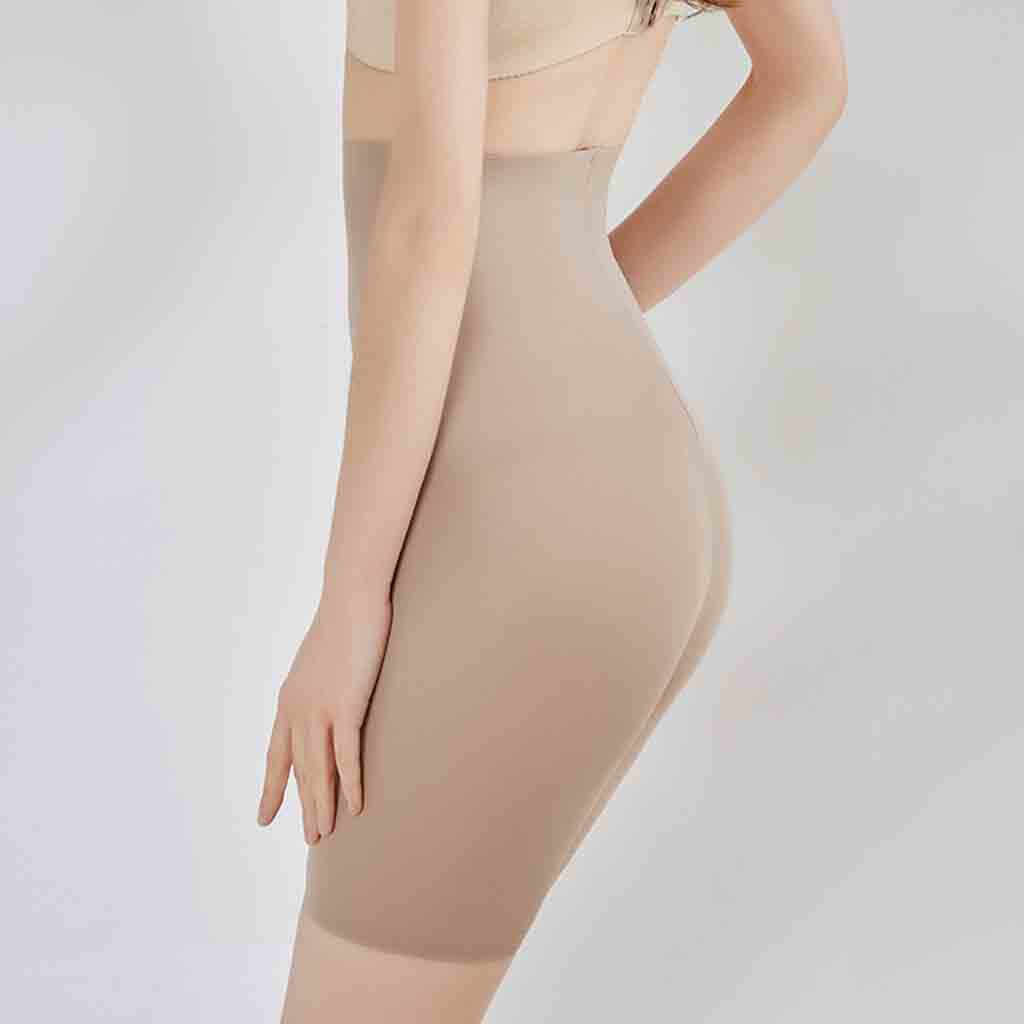 Womens Shapewear Tummy Control Shorts High-Waist Panty Mid-Thigh Body Shaper Bodysuit Slimming Butt Lifter Waist Trainer Panties
