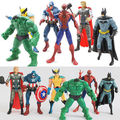 6PCS The Avengers Hulk Wolverine Batman Spiderman Action Figures Boy Xmas Gift hot Sale Free Shipping 2016 new arrived