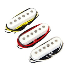 1 set of 3-pcs Belcat BS-01WH Alnico V Vintage Single Coil Pickup White
