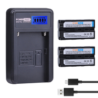 2Pcs NP F550 NP F550 NP F570 Camera Battery LCD USB Charger For Sony NP F330