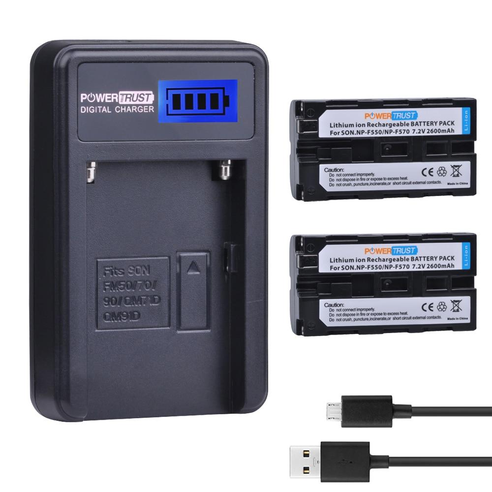 2Pcs NP-F550 NP F550 NP-F570 Camera Battery+LCD USB Charger For Sony NP-F330 NP-F530 NP-F570 NP-F730 NP-F750 CCD-TRV81 CCD-RV100 аккумулятор для фотокамеры boka np f960 np f970 usb sony ccd trv715 ccd trv815 for ccd trv715 ccd trv815