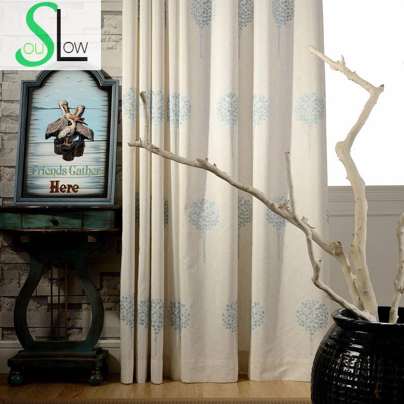 Online kopen wholesale gordijnen blauw bruin uit china gordijnen ...