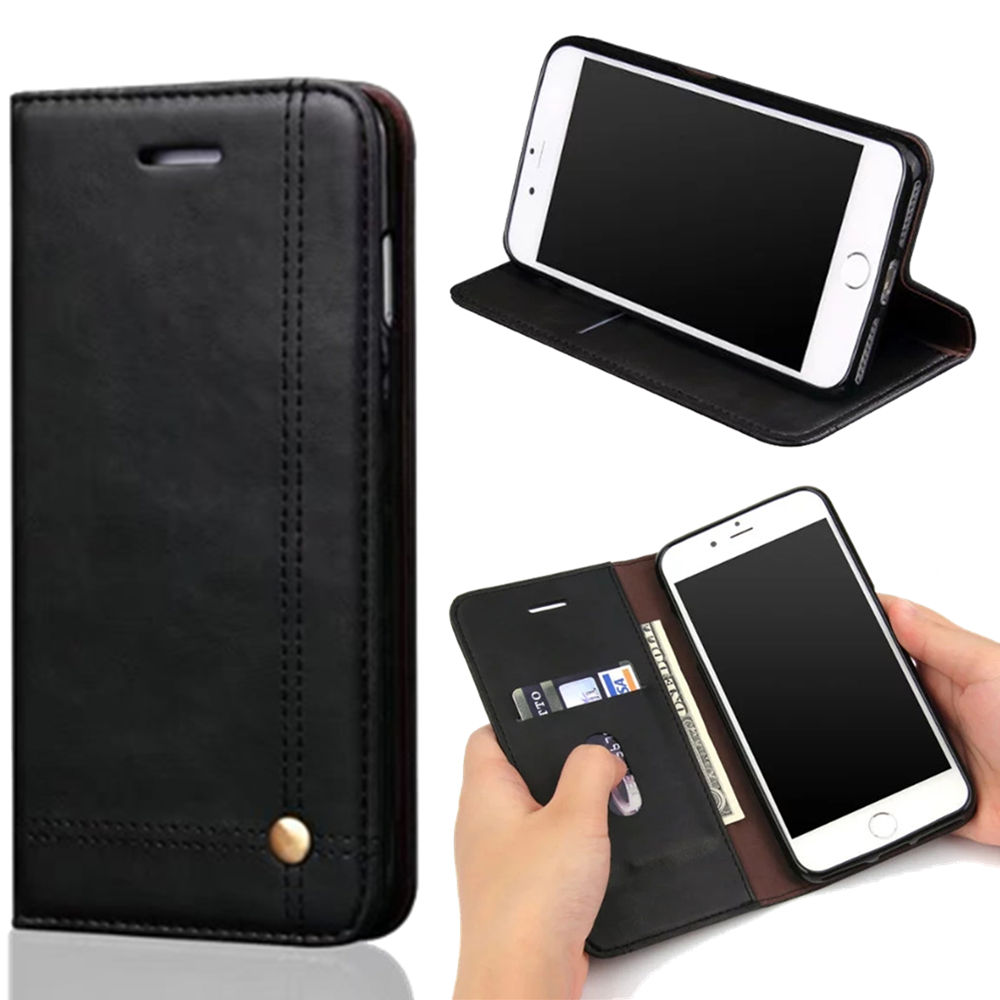 Wallet Flip Capa Case For iPhone On 7 Plus 7P 5.5 inch PU Leather Cover For iPhone 7 Plus Capinha Soft Silicone Shell Coque Bag