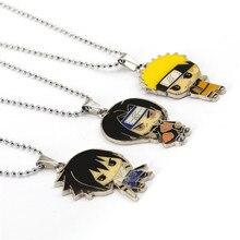 Anime Cartoon Naruto Sasuke Uchiha Itachi Figure Metal Pendant Necklace Cosplay Statement Jewelry Collar HC12047