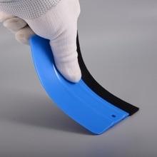 FOSHIO Azul Tecido Sentiu Rodo Janela Folha de Vinil Envoltório Carro De Fibra De Carbono Ferramentas 12*8 cm Adesivos Raspador de Embrulho acessórios do carro