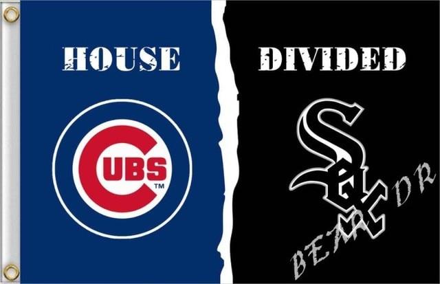 Chicago Cubs Vs Chicago White Sox Flag 100d Polyester Digital