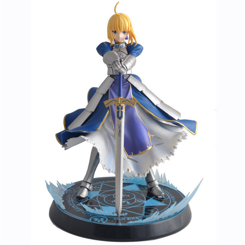 Anime Fate Stay Night Altria Pendragon UBW Saber PVC Action Figures Collectible Model Toys 23cm zy458 fate stay night fate cosplay saber 14cm 5 5 boxed faceswipe garage kit action figures toys face change model