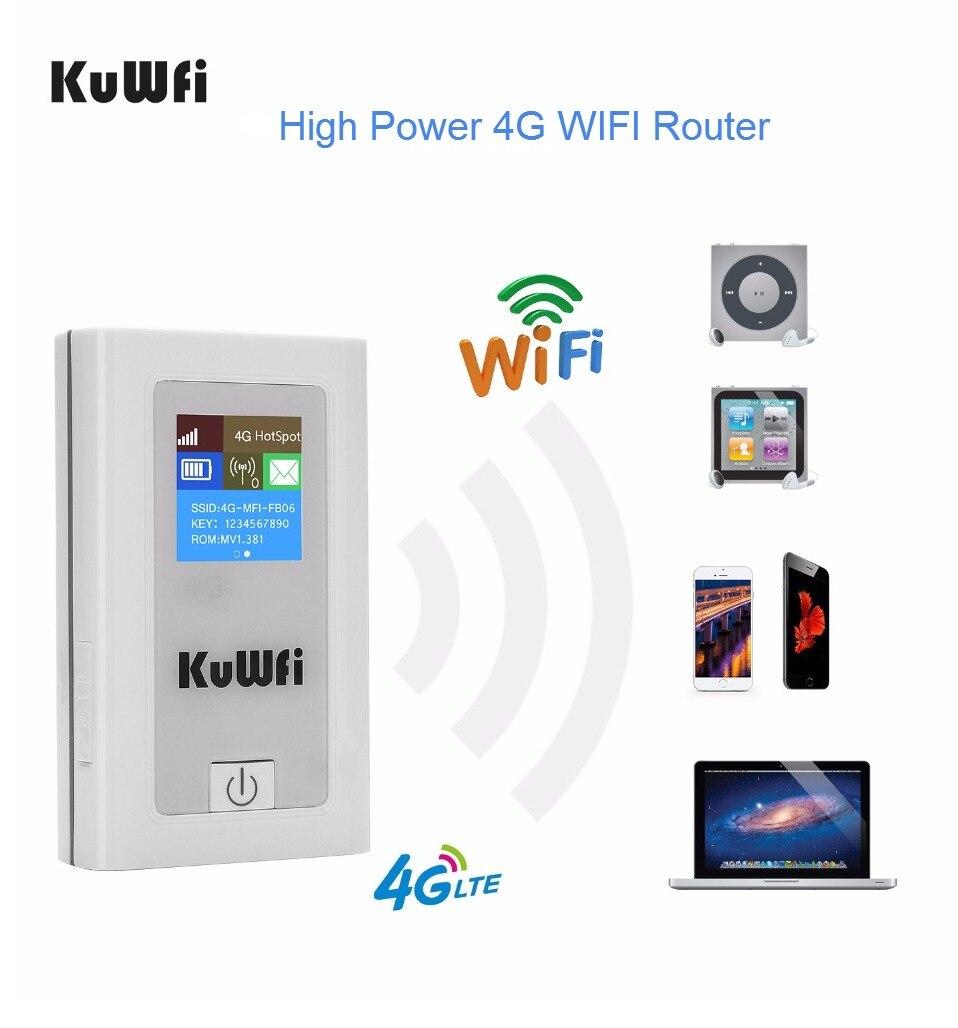 Débloqué 4G routeur wifi 150 Mbps 3G 4G Lte Sans Fil Hotspot Mifi Dongle routeur wifi Avec Sim emplacement pour cartes De Voiture 5200 MAh batterie externe