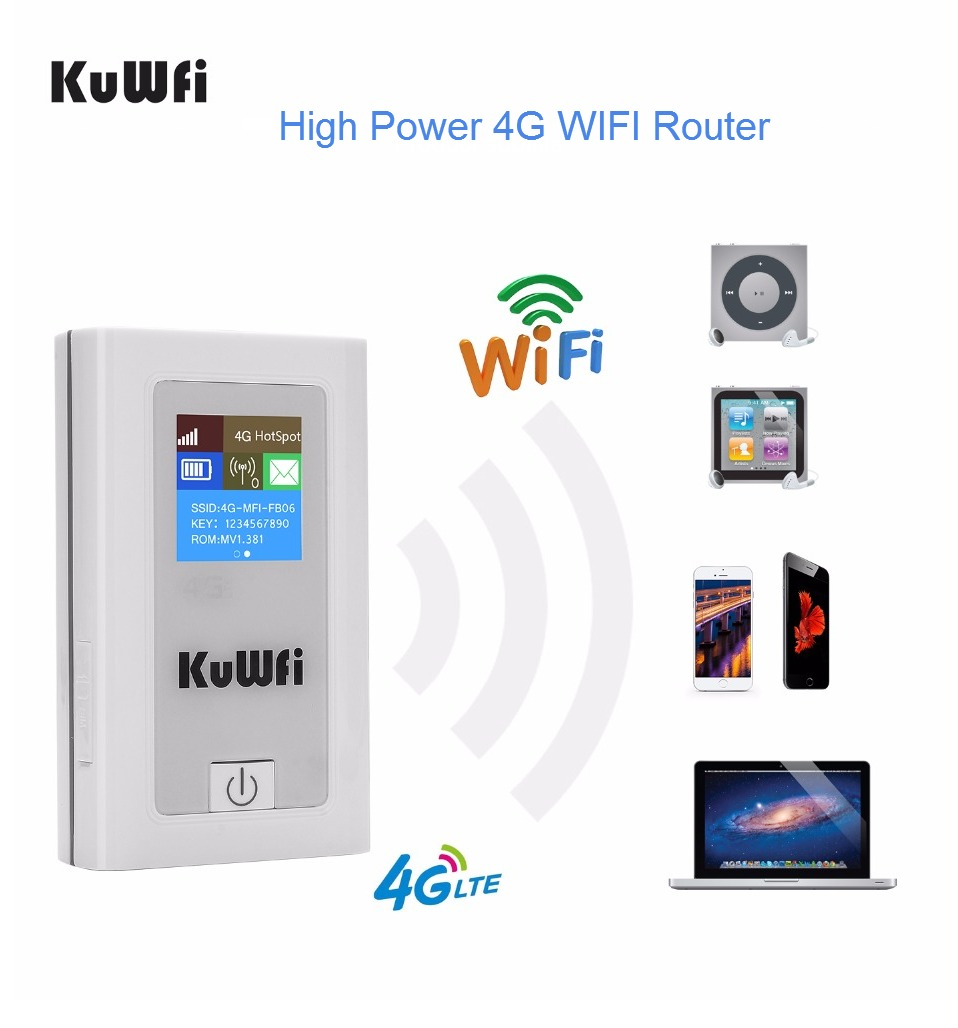 Unlocked 4G Wifi Router 150Mbps 3G 4G Lte Wireless Hotspot Mifi Dongle Car Wi-fi Router With Sim Card Slot 5200MAh Power Bank