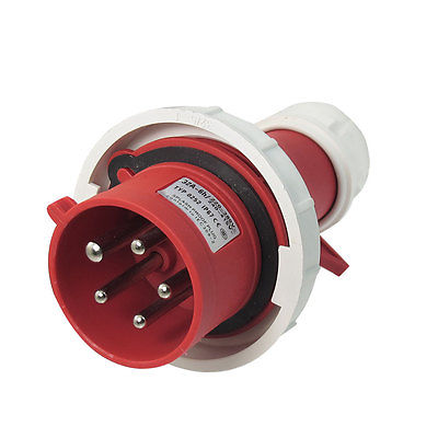 AC 32A Water Proof IP67 3P+E+N IEC309-2 Industrial Plug Conector Red White