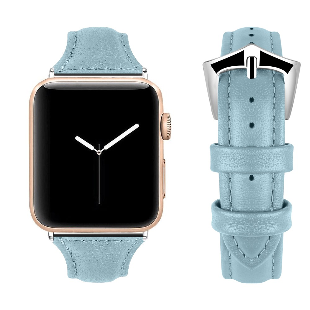 915d4344a92 Leather Bands for Apple Watch Band 38mm 40mm Slim Replacement Wristband  Sport Strap for Iwatch Nike+