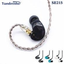 Hi FI MMCX SE215 סטריאו רעש ביטול 3.5MM באוזן אוזניות עם נפרד כבל אוזניות לshure SE215 SE535 אוזניות