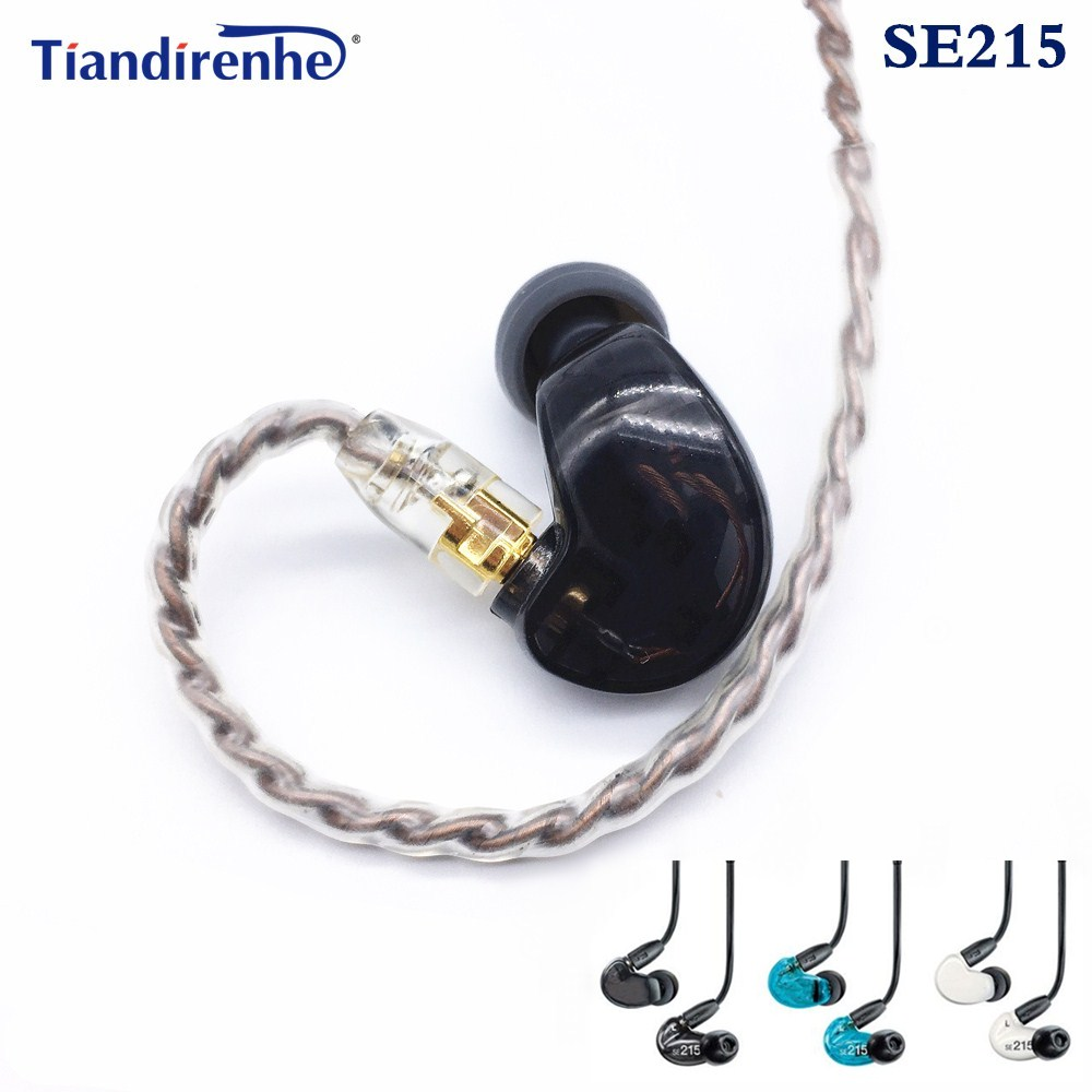 Hi-FI MMCX SE215 stereo Noise Canceling 3.5MM In ear Earphones With Separate Cable headset For Shure SE535 headphone