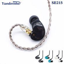 Hi-fi mmcx se215 estéreo cancelamento de ruído 3.5mm em fones de ouvido com cabo separado fone de ouvido para shure se215 se535