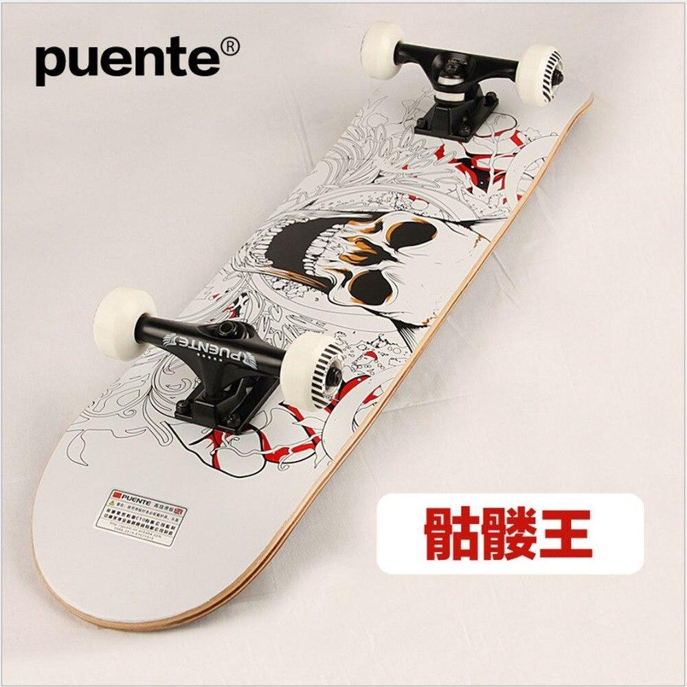 Planche à roulettes Graffiti érable canadien de qualité 78.5*19.5*10 cm LongBoard hommes/fille DoubleRocker Monopatin skate de rue limite planche à roulettes - 4