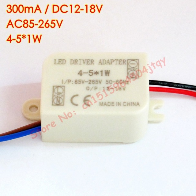 300ma 4 5x 1w led driver 4w 5w lamp driver power supply lighting 300ma 4 5x 1w led driver 4w 5w lamp driver power supply aloadofball Images