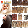 """24"""" 60cm Straight Hair Extention Full Head Clip in Hair Extensions Straight Human Hairpiece 20 Color Free Shipping"""