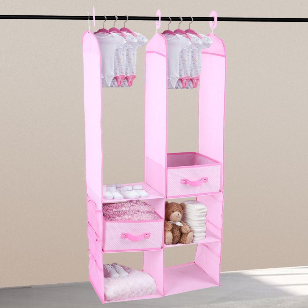 Furniture Children Wardrobes 24pcs Children Nursery Closet Organizer Set Baby Clothes Hanging Wardrobe Storage Baby Clothing Kids Toys Organizer