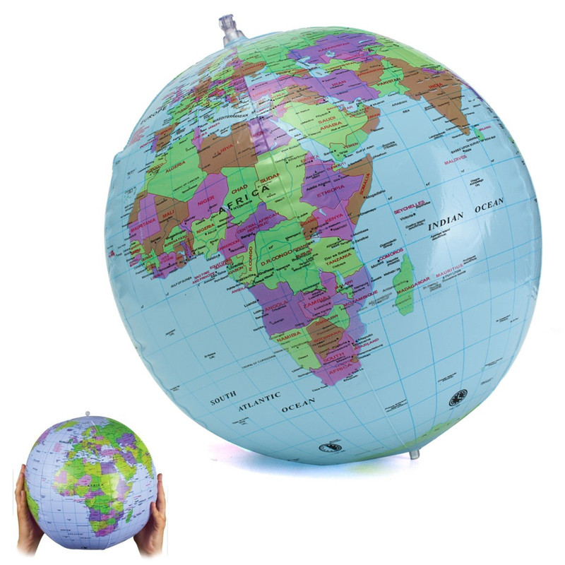 40cm inflatable world globe classroom pool ball geography aeproducttsubject gumiabroncs Images