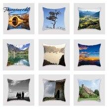 купить Fuwatacchi Famous Scenic Cushion Cover Cloud Hill   Soft Throw Pillow Cover Decorative Sofa Pillow Case Pillowcase дешево