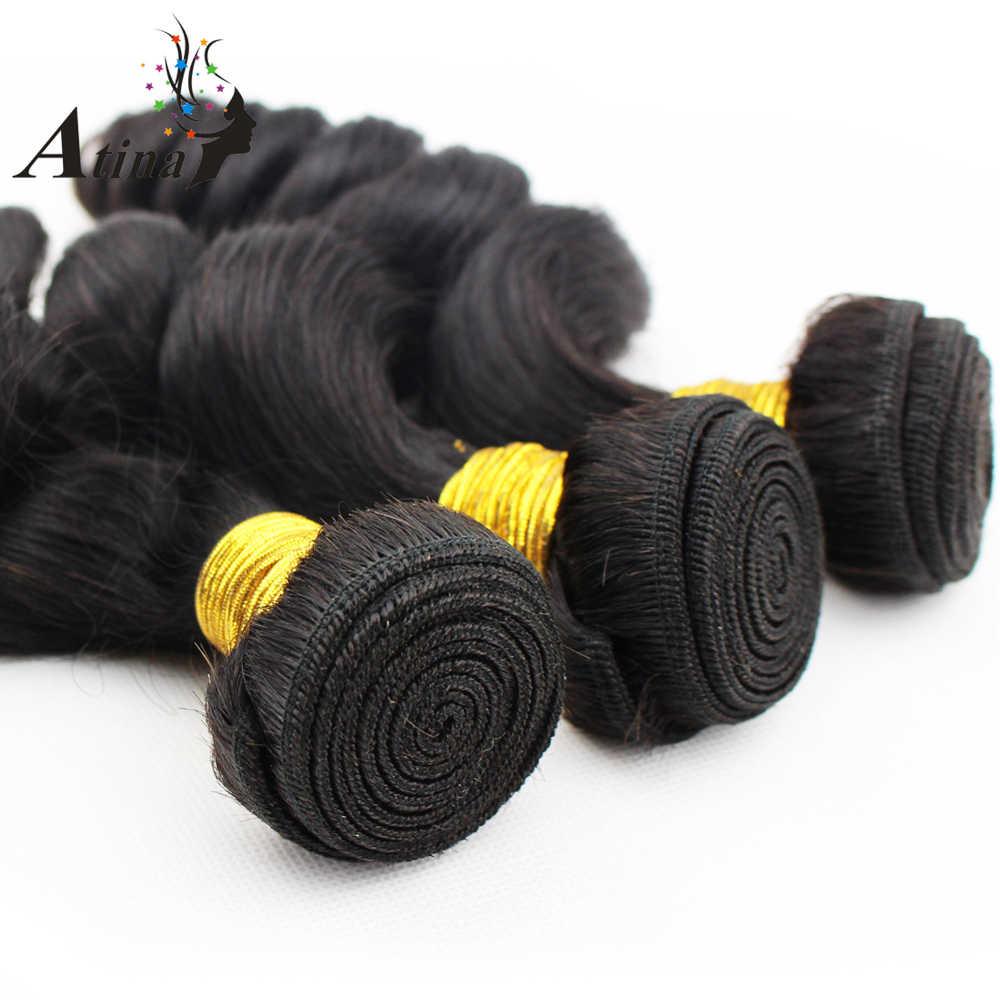 Малайзии свободная волна Связки с закрытием Девы человеческих волос ткань и уха до уха 13x4 кружева Фронтальная застежка с ребенком волос атина