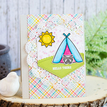 Camping Accessories Clear Stamp DIY Scrapbooking Card Album Making Background Silicone Craft Handmade Decoration Template lovely unicorn clear silicone stamp diy scrapbooking card album making background craft handmade decoration template