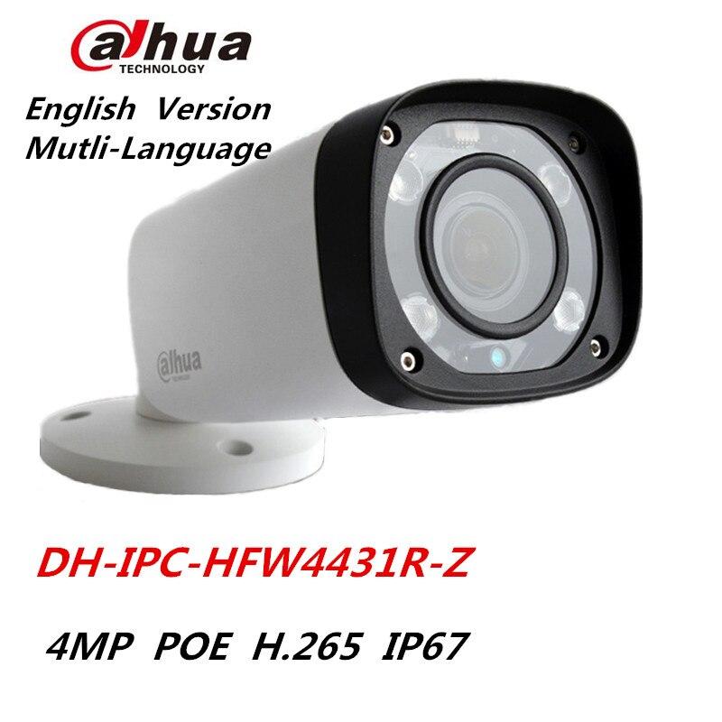 Dahua IPC-HFW4431R-Z IP Camera 2.8mm ~12mm Varifocal motorized lens Network camera 4MP IR 80M POE Dahua CCTV Camera dahua 3mp motorized ip camera ipc hfw2320r zs 2 7mm 12mm new model replace for ipc hfw2300r z cctv camera free shipping