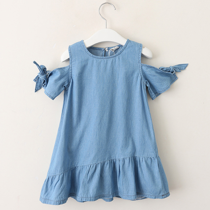 1e68324cec Children Clothing Suits 2019 New Summer Fashion Style Girls Cowboy Long  Sleeve Mesh Dress Design For 3 8Y Kids Girls Cloth Sets-in Clothing Sets  from Mother ...