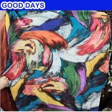 1,5 meter (59 tum) bredd 1 meter tissu coton Abstrakt Tyg Mode Andas lättskjorta Skjorta tyg DIY Handgjorda Sömnad
