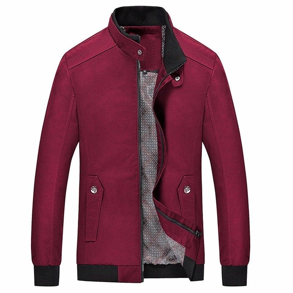 Noir Hiver Vert Veste Wear Outwear Coton Poches Hommes Zipper Kaki Rue army khaki Black Printemps Rouge navy Mince 100 red Homme Automne Green Mâle Casual Blue 0P6Yqx0