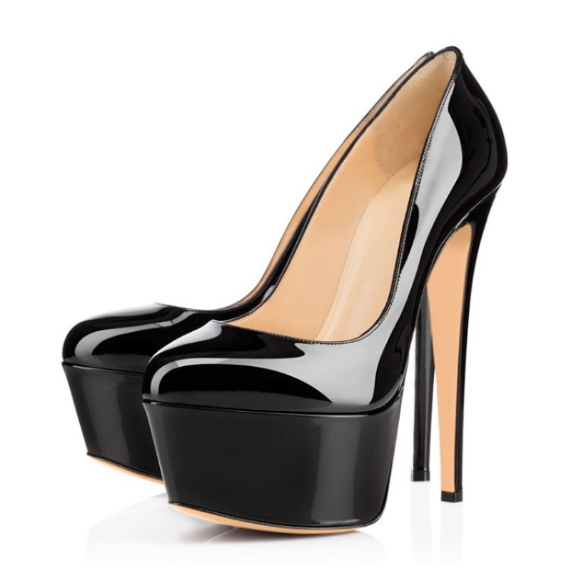 SHOFOO shoes,Sweet fashion free shipping, <font><b>15</b></font> cm high <font><b>heel</b></font> shoes, round toe pumps, women's shoes. <font><b>SIZE</b></font>:34-45 image
