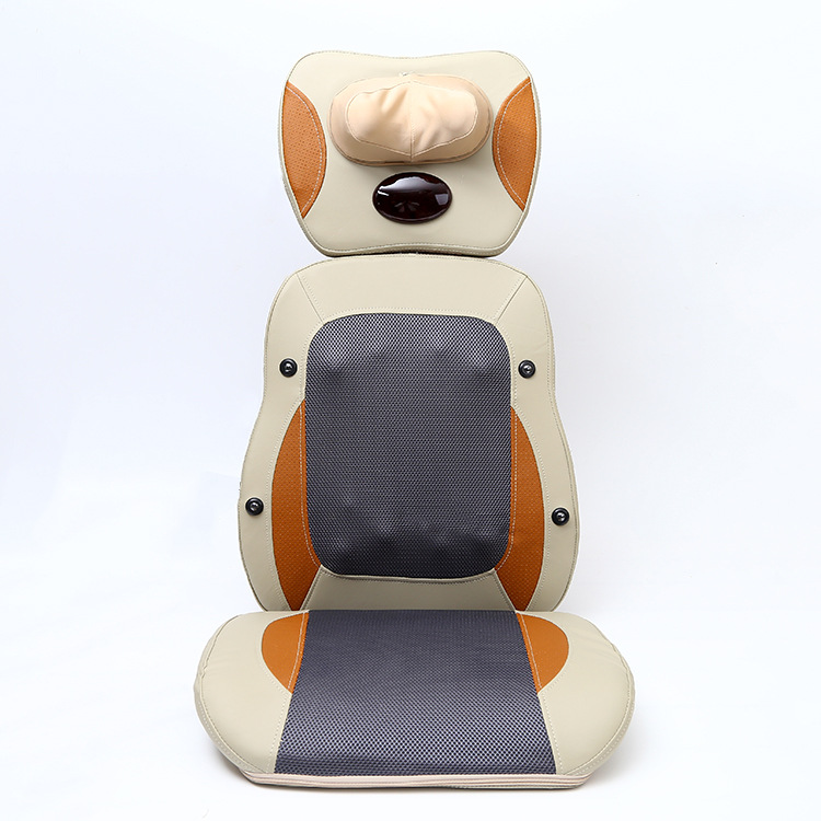 Cervical back massage cushion heating household multi-function electric body massager infrared kneading massage chair multi function massage pen massager white 1 x aa