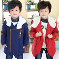 2016  winter boys child clothing baby children's  thickening wadded jacket outerwear boys cotton-padded jacket zipper Thick