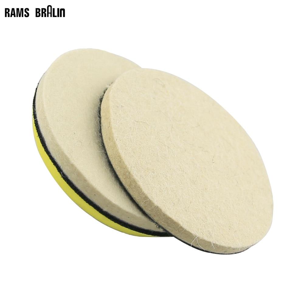 6 pièces 5 po / 125 mm disque de ponçage en feutre de laine grossier et fin +1 pièce buse de support M14 pour voiture de bois bulgare métal polonais