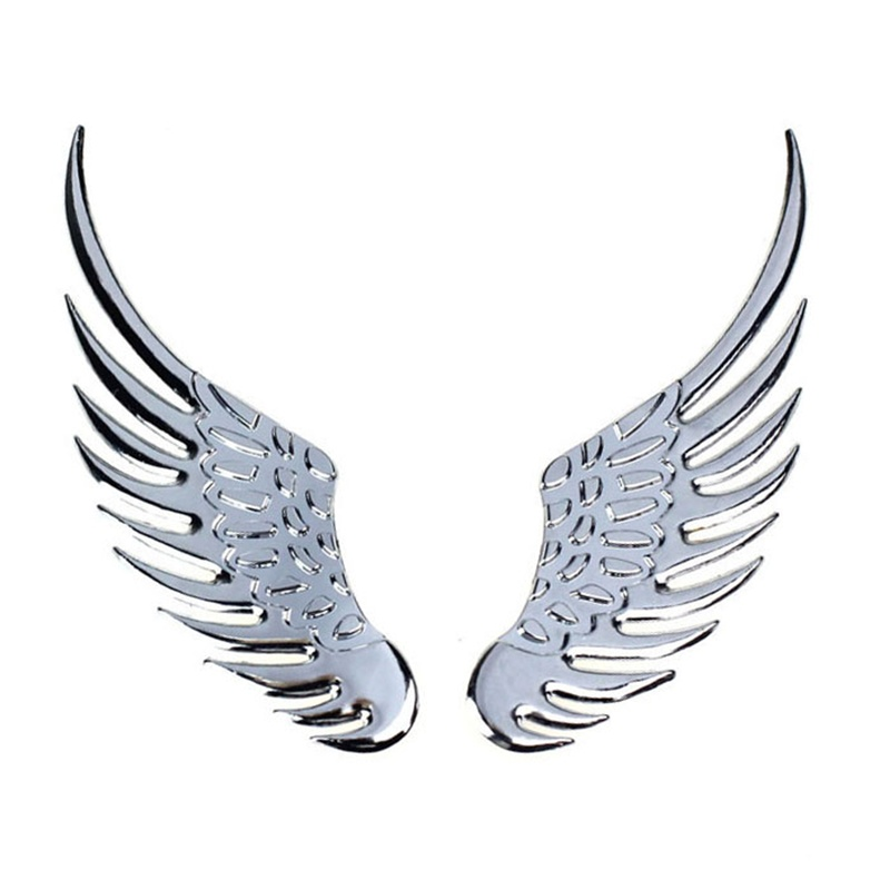 D Alloy Metal Angel Hawk Wings Car Emblem Badge Decal Logo - Car sign with wings