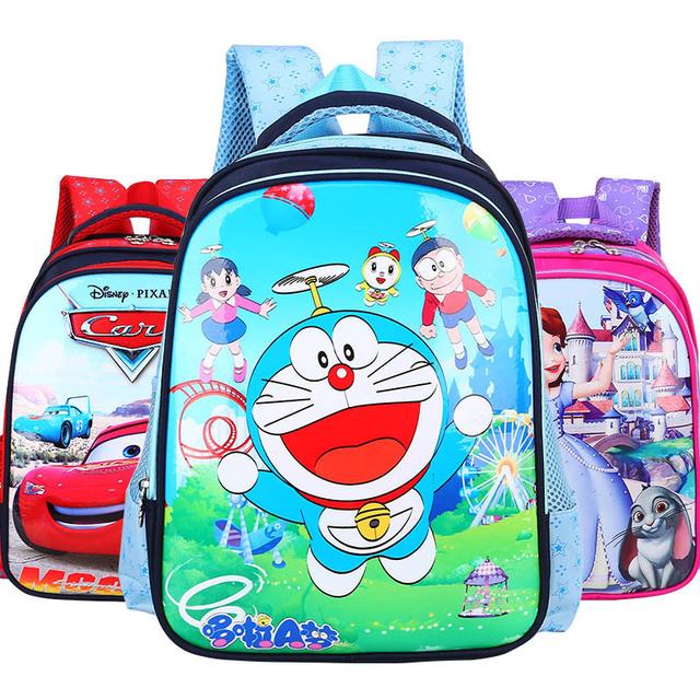 Bolsas Transpirables Mochila Cartera de los niños de Los Niños para niños y niñas de 1-3 grado de dibujos animados lindo mochila mochila