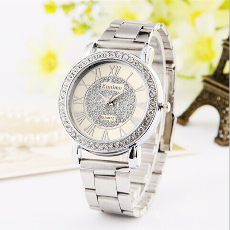 Dames luxe casual mode quartz horloge roestvrij staal horloges rose - Dameshorloges - Foto 3