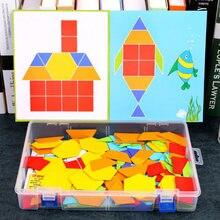 Dollryga diy Деревянные блоки игрушки 170 шт деревянные радужные