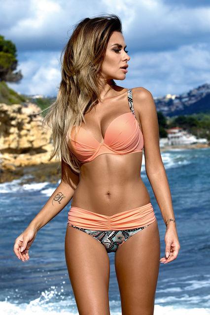 772bf1c771d80 2016 New Sexy Bikinis Women Swimsuit High Waisted Bathing Suits Swim Halter  Top Push Up Bikini Set Beach Plus Size Swimwear XL