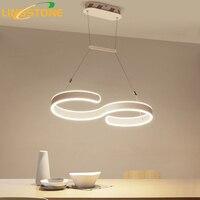 Modern Chandelier Lighting Led Lamp Hanglamp Ceiling Aluminum Light Fixture Hanging Living Room Kitchen Dining Room