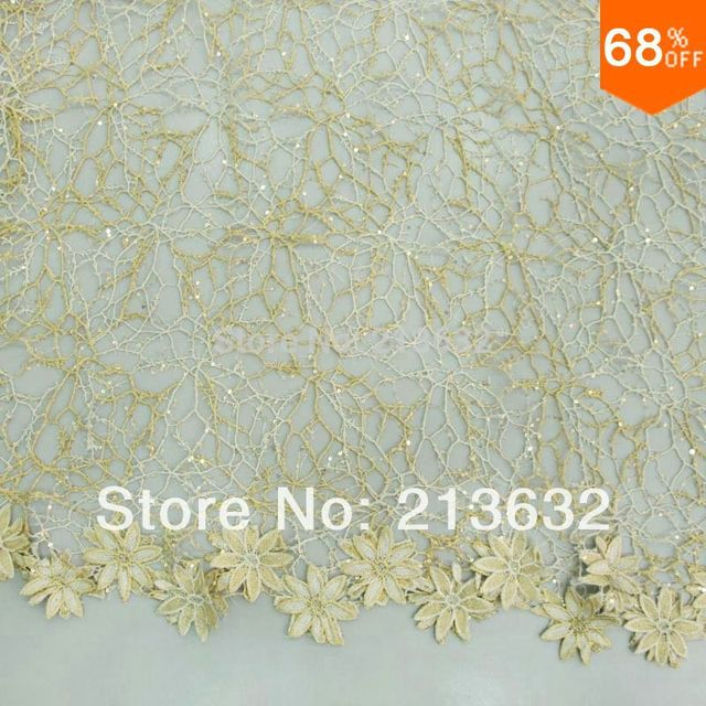 D po36 Water soluble metal wire bead piece embroidered cloth High-end computer embroidery lace full picture of the