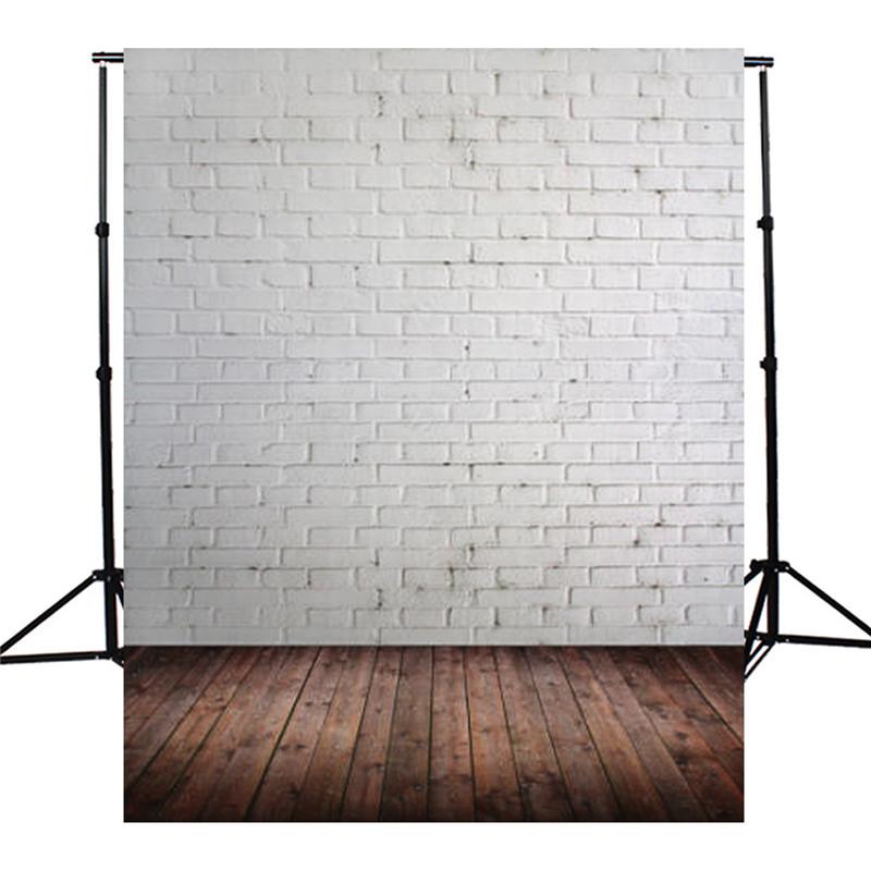 xft vinilo marrn de madera pared de ladrillo blanco fotografa telones fotogrficos de tela de fondo
